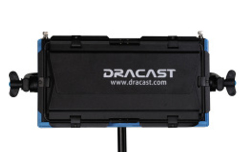 Dracast LED 500 Daylight Gold Mount Plate Studio Lighting Barn Doors Closed