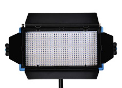 Dracast LED 500 Tungsten Gold Plate Mount Studio Lighting Barn Doors Open