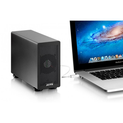 Akitio Thunderbolt 2 PCIe Box Expansion Chassis with Mac Book
