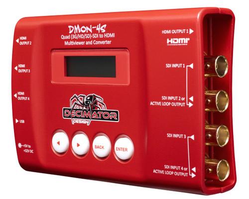 Decimator Design DMON-4S Quad 3G/HD/SD-SDI to HDMI Multi-Viewer and Converter