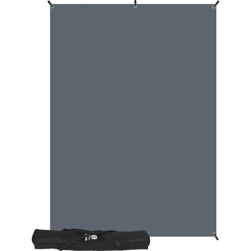 Westcott 620K X-Drop Kit with 5' x 7' Neutral Gray Backdrop (1.5 x 2.1 m) Includes: X-Drop Frame, Backdrop, Storage Case.