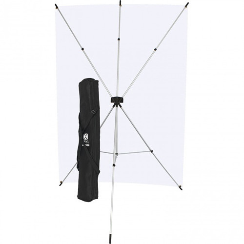 Westcott X-Drop 5' x 7' Neutral Gray Backdrop Kit
