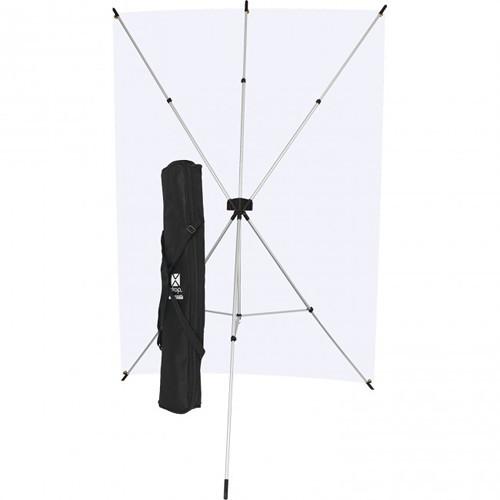 Westcott X-Drop 5' x 7' Neutral Gray Backdrop Kit