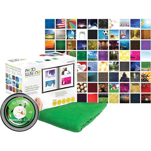 Westcott 417N Illusions Green Screen PhotoKey 6 Lite Software Bundle