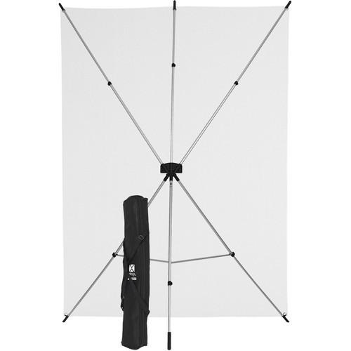 Westcott X-Drop 5' x 7' Solid White Backdrop Kit