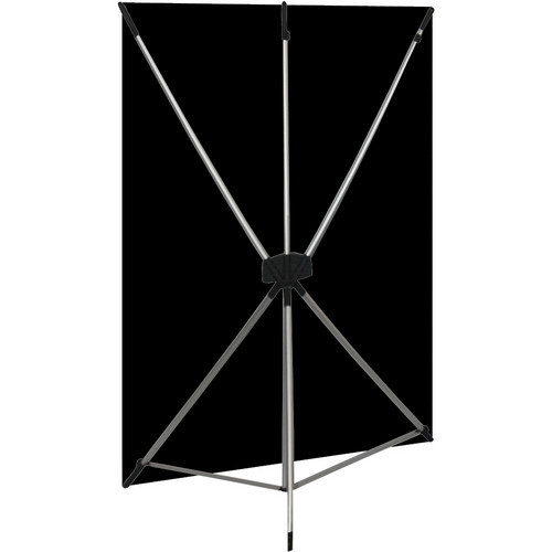 Westcott 578K X-Drop Kit with 5' x 7' Black Backdrop (1.5 x 2.1 m) Includes: X-Drop Frame, Backdrop, Storage Case.