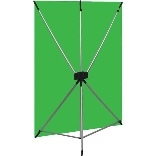 Westcott 579K X-Drop Kit with 5' x 7' Green Backdrop (1.5 x 2.1 m) Includes: X-Drop Frame, Backdrop, Storage Case.