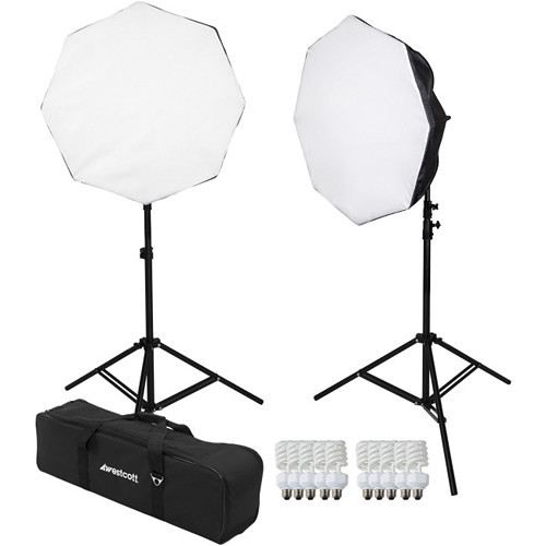 Westcott 482 D5 2-Light Daylight Octabox Kit with Case