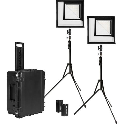 Westcott 7557 Flex 1' x 1' Bi-Color 2-Light Cine Travel Kit