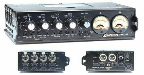 Azden 4-Channel Microphone Field Mixer FMX-42A