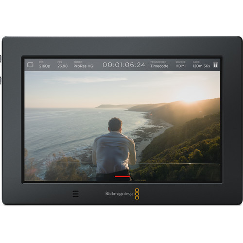 "Add professional monitoring and high-quality recording to virtually any camera with the Blackmagic Video Assist 4K. It features a 7"" 1920 x 1200 display ."