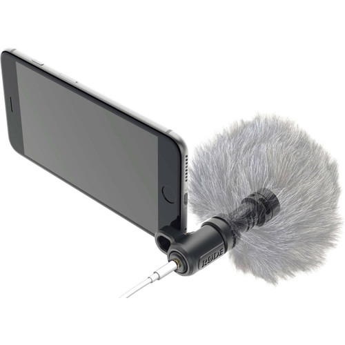 RODE VideoMic ME Compact TRRS cardioid microphone designed for iOS devices and smartphones. 3.5mm headphone output.