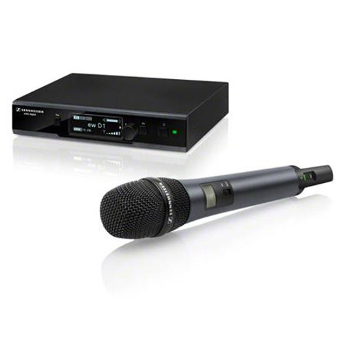 Sennheiser ew D1-835S EW D1 digital wireless vocal set, with handheld transmitter equipped with e835 cardioid dynamic capsule. 2.4 GHz, 10 mW / 100 mW (countryspecific), main