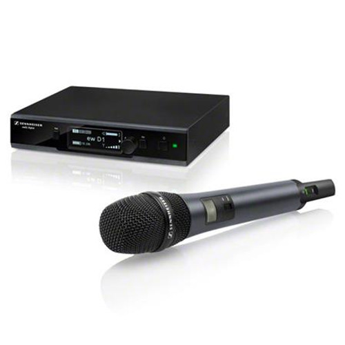 Sennheiser ew D1-845S EW D1 digital wireless vocal handheld set, with e845 supercardioid dynamic capsule. 2.4 GHz, 10 mW / 100 mW (country-specific), main