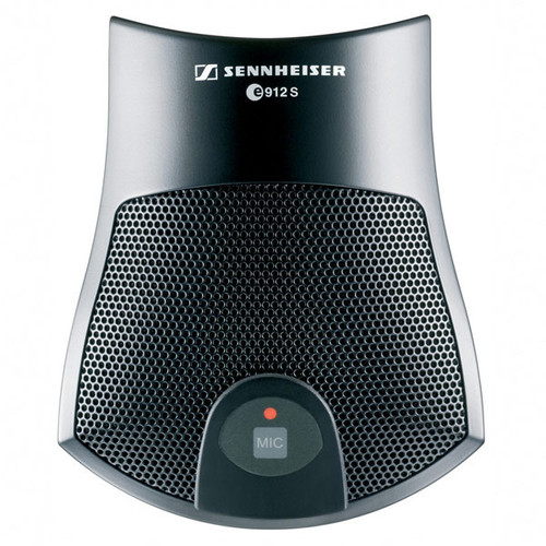 Sennheiser e912SBK Pre-polarized condenser boundary microphone, half-cardioid pick-up pattern, with programmable switch (PTT, PTM, On/Off), black, main