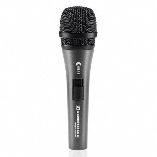 Sennheiser e835-S Handheld cardioid dynamic with on/off switch and MZQ800 clip. 11.6 oz.