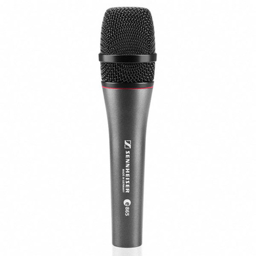 Sennheiser e865-S Handheld super-cardioid condenser with on/off switch. Includes MZQ800 clip. 11.6 oz., main