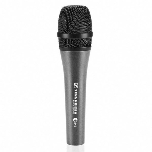 Sennheiser e845-S Handheld super-cardioid dynamic with on/off switch. Includes MZQ800 clip. 11.6 oz., main