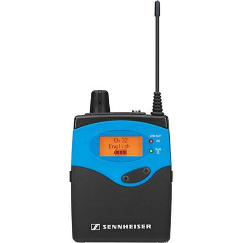 Sennheiser EK1039-BW 32 channel Tourguide bodypack receiver. Requires headphone or induction neckloop (ordered separately). Compatible with evolution wireless and 2000 series transmitters. Frequency range: 626-698 MHz, main