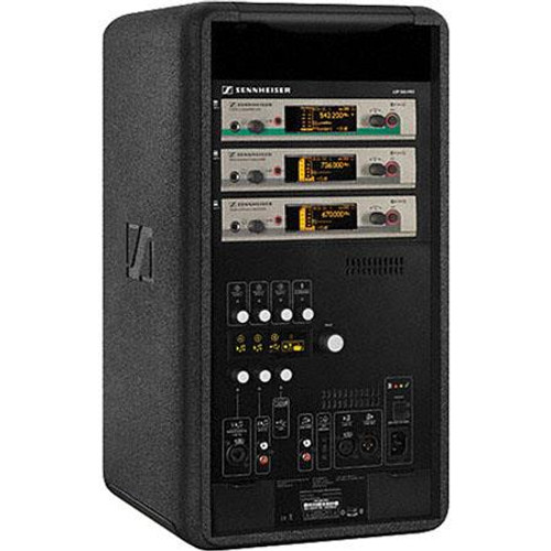 Sennheiser LSP500Pro Self-powered portable loudspeaker, featuring iPad control, (3) slots for wireless receivers and (2) hot-swappable batteries.