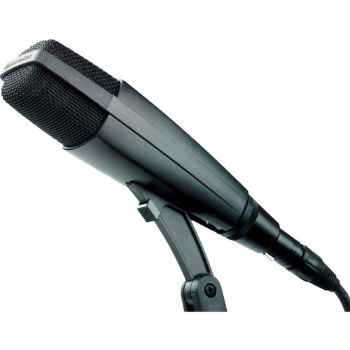 Sennheiser MD421II Cardioid dynamic with five position bass rolloff switch. Includes MZA421 lock-on stand adapter. (30 oz.)