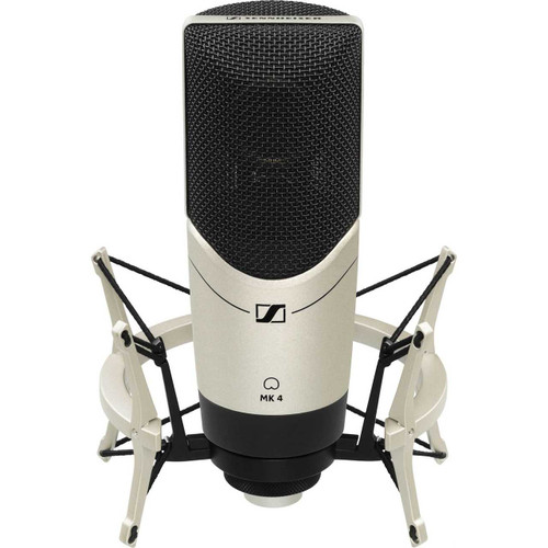 Sennheiser MK4SET Large-diaphragm, side-address microphone with 24-carat-gold-plated diaphragm