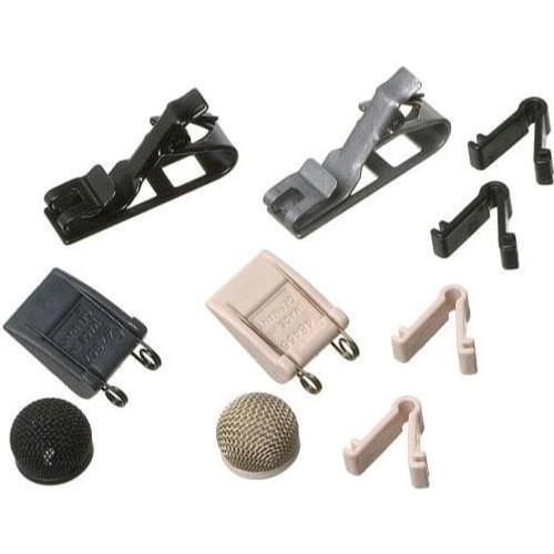 Sennheiser MZ2 MKE 2 Accessory Kit, consisting of MZQ222-NI, MZQ222, MZW2-A, MZW2-G, ZH100-ANT, ZH100-BEI and case