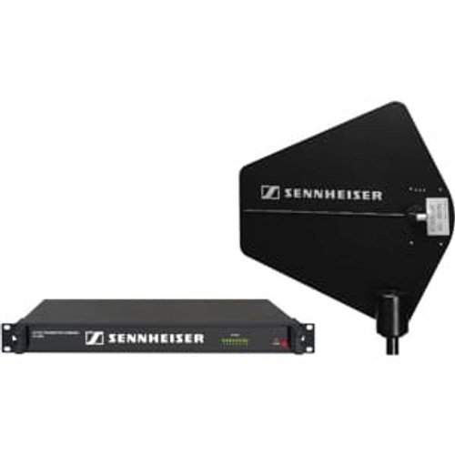 Sennheiser SRANT8R Antenna combiner package for up to eight transmitters using remote antenna.  Includes one AC3000 Custom antenna combiner and one A2003-UHF wideband passive directional antenna.