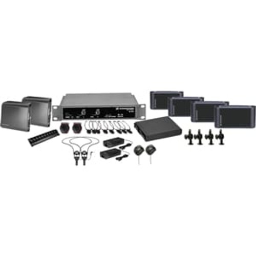 Sennheiser ADA8000Dual 2.3/2.8 MHz two channel / stereo infrared system package for ADA compliance. Coverage up to 8,000 sq ft., main