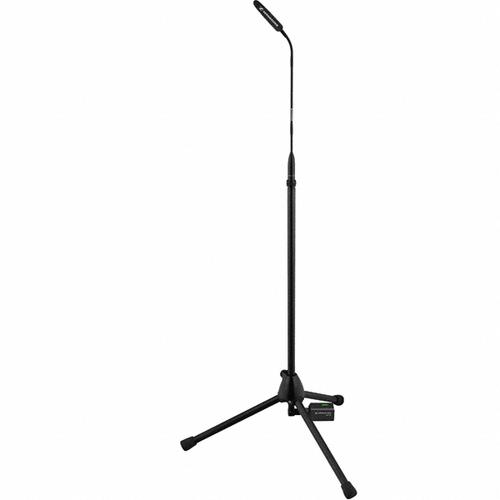 Sennheiser MZFS60 IS Series pass through wired floor stand, female XLR top, male XLR bottom, require gooseneck, 23.6 in (60cm)
