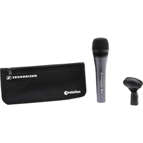 Sennheiser THREEPACK835 (3) e835 microphones with MZQ800 clips and carrying pouches. 3.5 lbs.