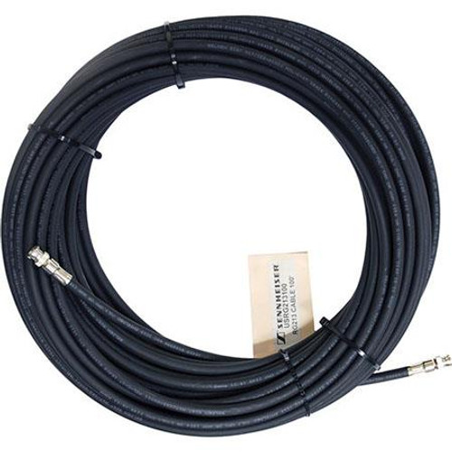 Sennheiser RG213-100 Low-loss RF antenna cable, 100 ft. with BNC connectors, MIL-Spec