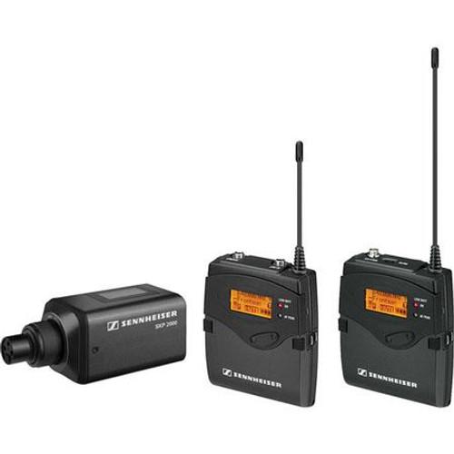 Sennheiser 2000ENGCOMBO-A Single Channel ENG Contractor Combo: (1) SK 2000XP bodypack transmitter, (1) SKP 2000XP plug-on transmitter; (1) EK 2000 portable recevier.  Frequency range Aw (516 / 558 MHz), main