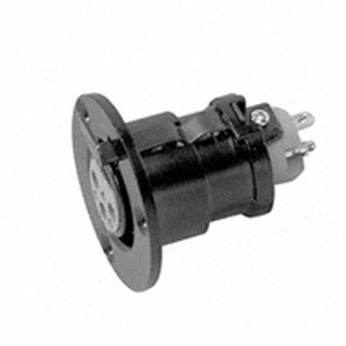 Sennheiser MZT30L IS Series 5-pin XLR female flange mount for fixed installation, requires 24.21 mm diameter hole (1.5 oz)