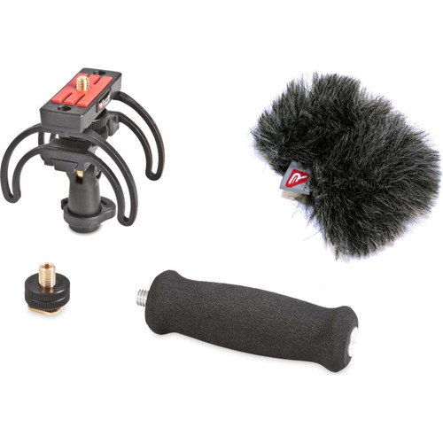 Rycote 046015 Portable Recorder Kit for Tascam DR-40, incl. Shockmount, Mini Windjammer® and Extension Handle