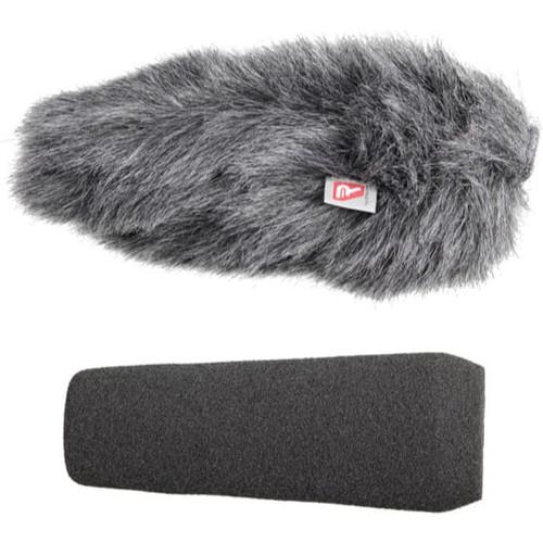 Rycote 055203 10cm Standard Hole SGM Foam (19/22) Windscreen + Windjammer® Combo