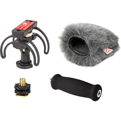 Rycote 046025 Portable Recorder Kit for Zoom H5, incl. Shockmount, Mini Windjammer® and Extension Handle