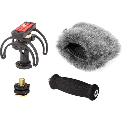 Rycote 046026 Portable Recorder Kit for Tascam DR-44WL, incl. Shockmount, Mini Windjammer® and Extension Handle