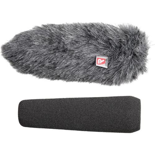 Rycote 055209 18cm Large Hole SGM Foam (24/25) Windscreen + Windjammer® Combo