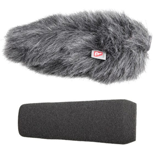 Rycote 055204 10cm Large Hole SGM Foam (24/25) Windscreen + Windjammer® Combo