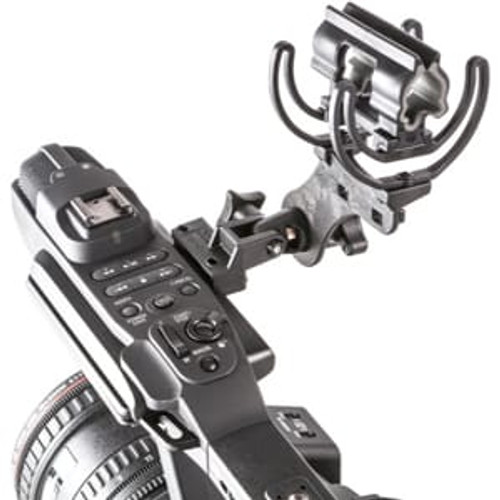 Rycote 037324 Softie Duo-Lyre® Mount w/ MHR [Mic Holder Replacement], includes mounting screws to attach to camera, Fits 19-34mm mics and Sennheiser MKH 50/40