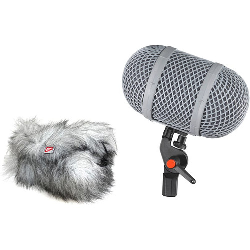 Rycote 086017 Windshield 9 Kit, Mono Extended Suspension, Windshield and Windjammer (no Connbox)