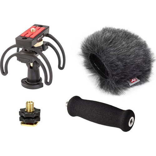 Rycote 046027 Portable Recorder Kit for Tascam DR-22WL, incl. Shockmount, Mini Windjammer® and Extension Handle