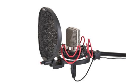 Rycote 045003 InVision Studio Kit-L, Includes USM-L Studio Mount and Pop Filter
