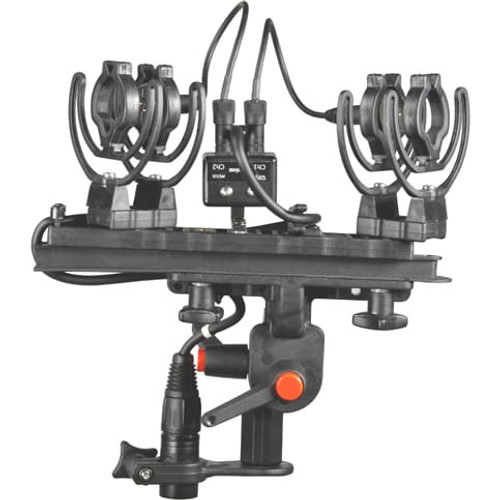 Rycote 080211 ORTF Windshield Kit MZL, Includes Suspension, Strereo MZL Connbox, Windshield and Windjammer (For pair of Sennheiser MKH8040)