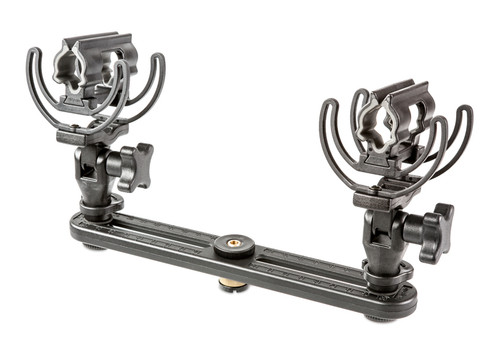 Rycote 041125 InVision Stereo Pair Kit, Stereo bar, adjustable 40cm to 200mm w/ (2) attached INV-7HG mkIII mounts