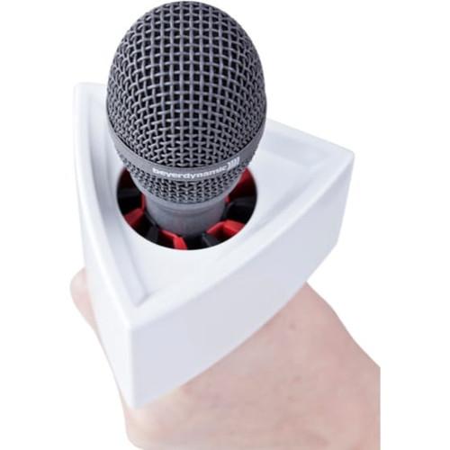 Rycote 107308 Mic Flag, Triangular, White, for Reporter mics ranging 19 to 38mm in diameter