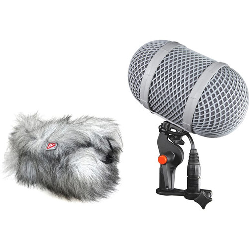 Rycote 086038 Windshield 9 MZL Kit, Mono Extended Suspension, Windshield, Windjammer and MZL Connbox (for MKH8050)