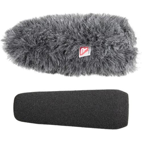Rycote 055206 12cm Large Hole SGM Foam (24/25) Windscreen + Windjammer® Combo