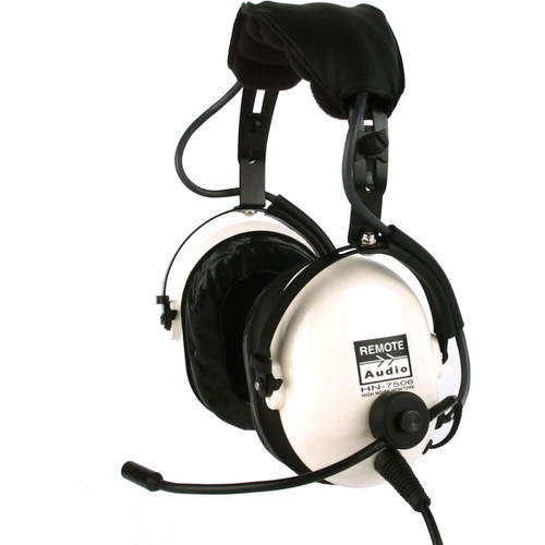 Remote Audio HN7506EBS High noise isolation headset with electret talkback microphone. 6 ft.